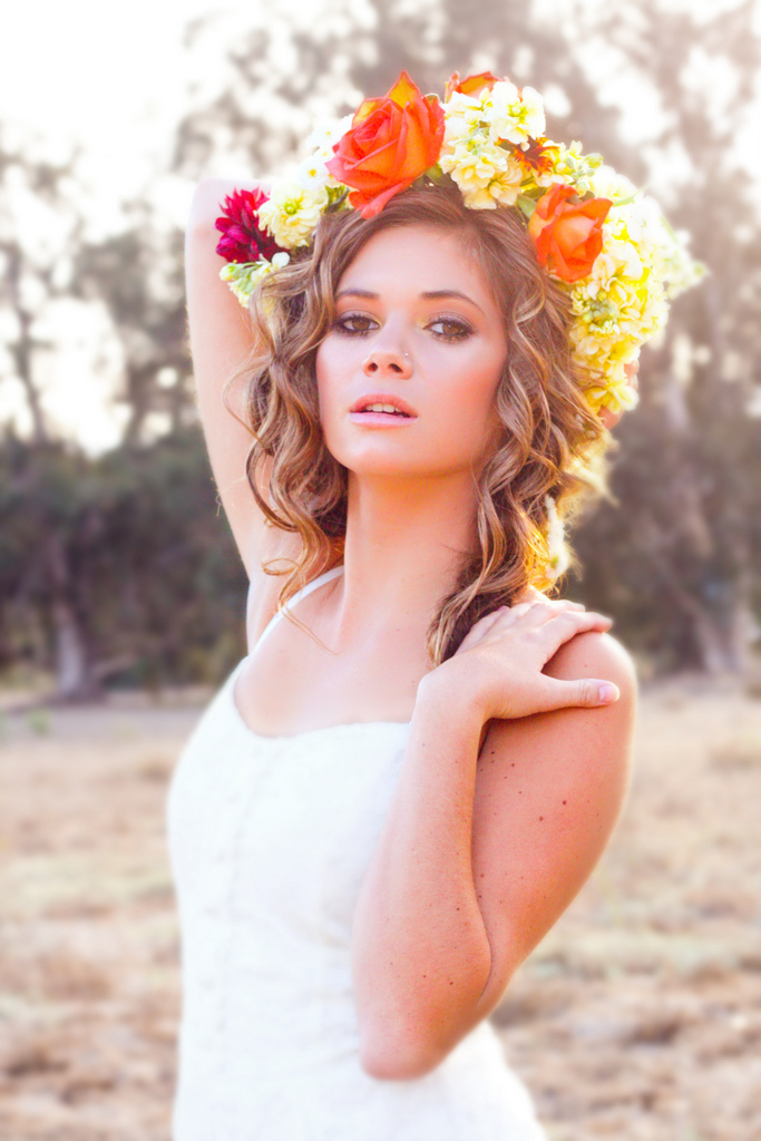 How To Make A Floral Halo DIY Flower Crown Tutorial