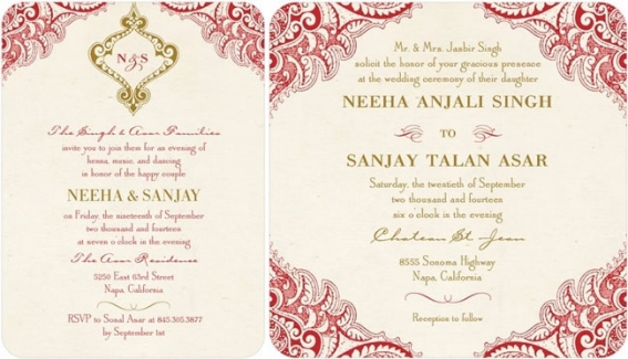 Top Indian Wedding Invitation Cards – Indian Wedding Invitation Ideas
