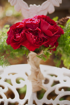 Pretty red bouquet for an Indian bride by http://petalfloraldesign.com/ | Photo by http://www.shannongrantphotography.com/