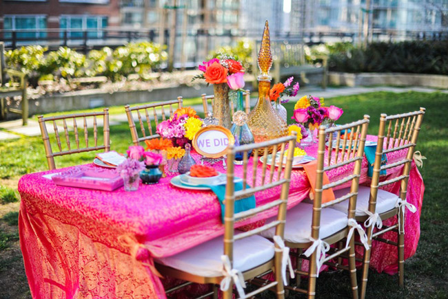 Asian Mehndi Party : Rooftop moroccan mehndi decor inspiration by vasia photography