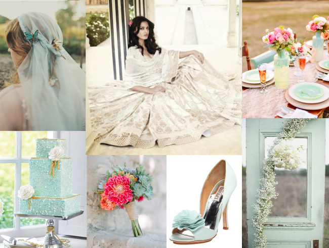 Boho Mint Indian Wedding Inspiration Board | Rubies and Ribbon