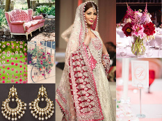 Romantic red and pink Pakistani wedding inspiration | Rubies and Ribbon