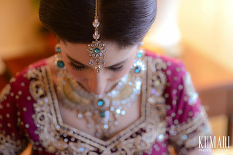 Pink and green styled Indian bride | Offbeat Indian Wedding | Arora Wedding & Event Planning http://aroraevents.com/